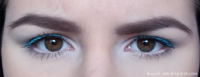 #3 TEST: Błękitny eyeliner Lovely Color Pop