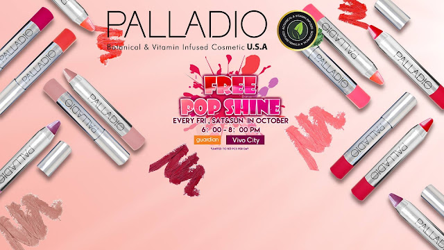 Palladio Pop Shine Brilliant Lip Balm Singapore event giveaway