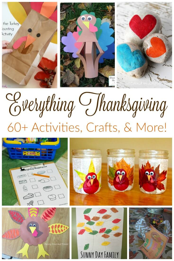 Everything you need for a fun family Thanksgiving! Turkey crafts, gratitude activities, and Thanksgiving activities for kids - all in one place!