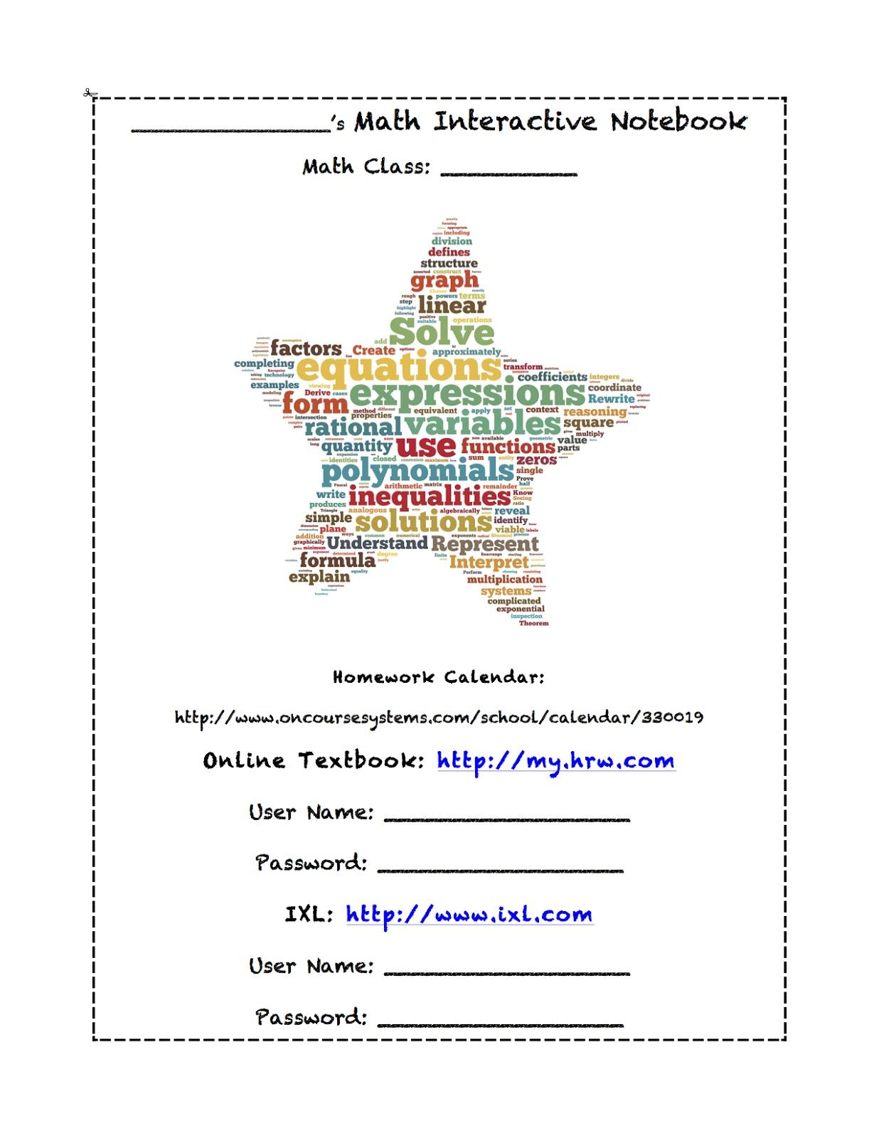 Cover page for math homework - Romano, Michelle - TK & Kindergarten