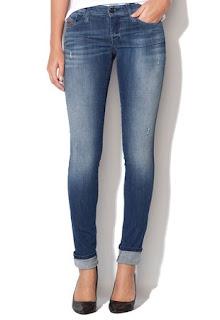 Diesel Jeansi super slim fit skinny albastru inchis