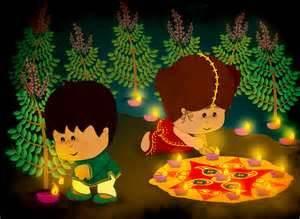 Diwali Sketch Paintings