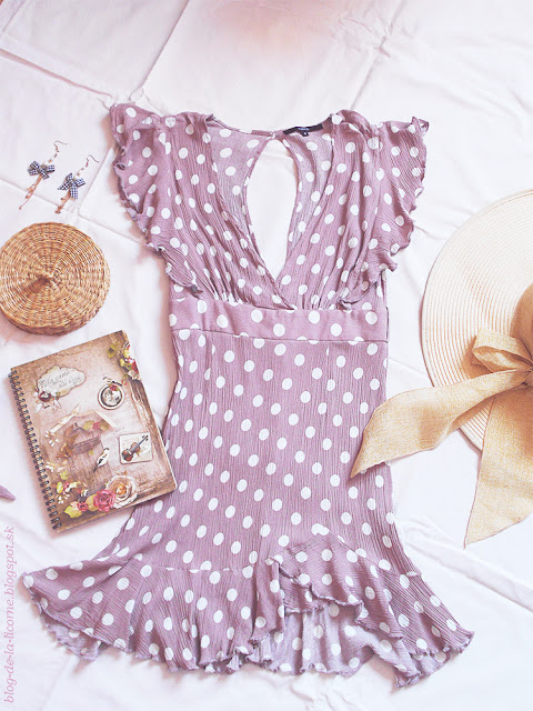 Polka Dot Ruffle Skater Mini Dress
