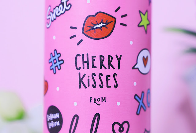 skin care body lotion foam mousse cute packaging cherry fragrance
