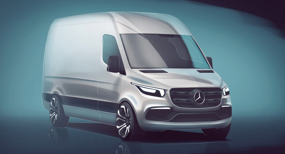 Mercedes teases next-gen Sprinter van