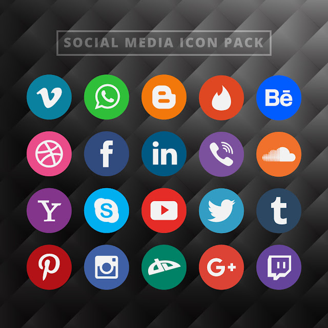 Gratis Download Social Media Icon Pack - Free Vector
