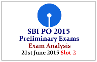SBI PO 2015- Prelims Exam Analysis