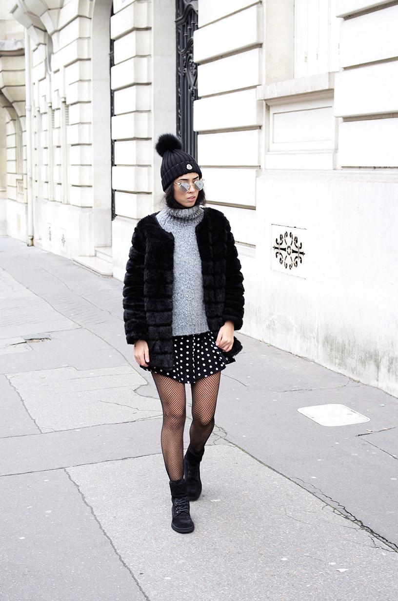 Elizabeth l faux fur fishnets outfit trend l blog mode zara tendance fausse fourrure l THEDEETSONE l http://thedeetsone.blogspot.fr