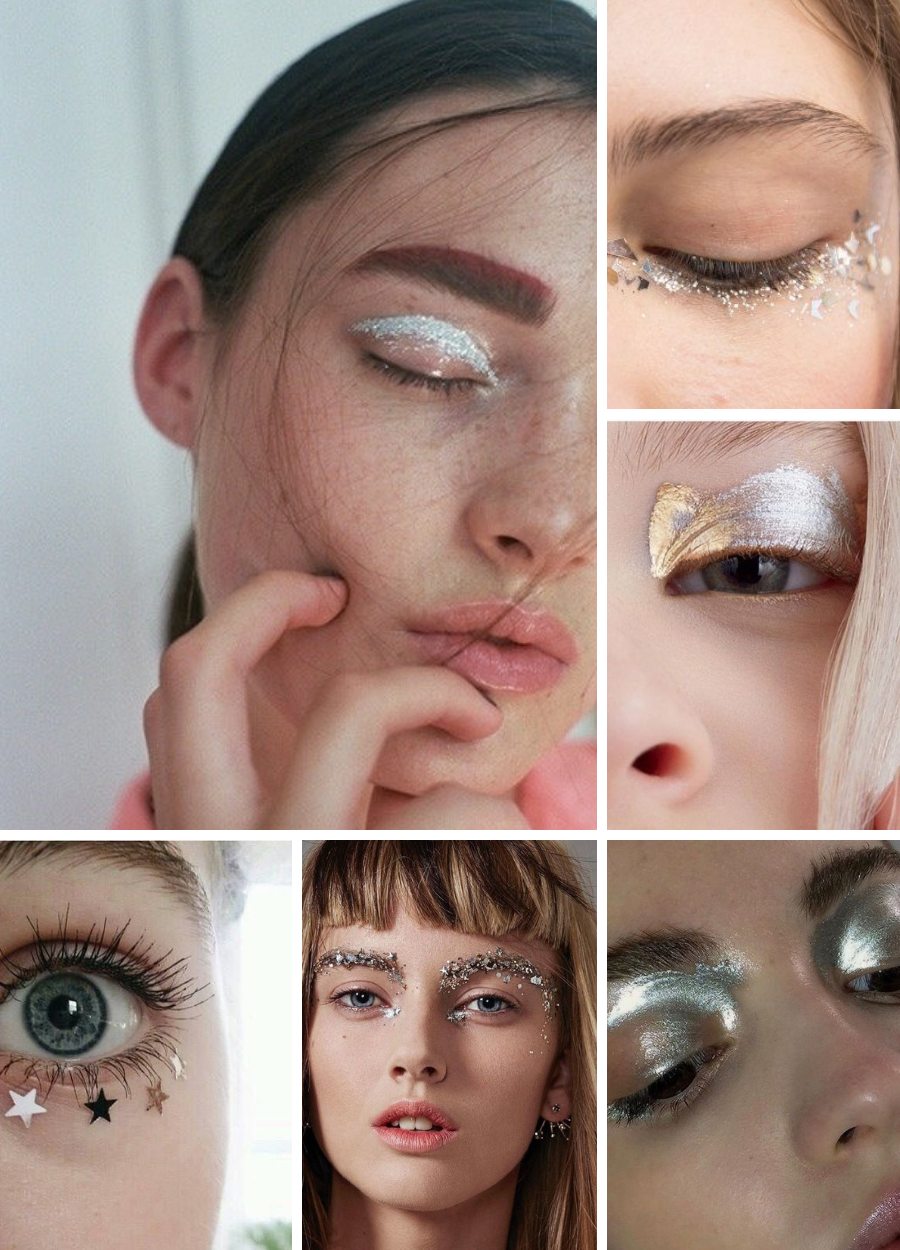 Silver Eye Makeup Moodboard