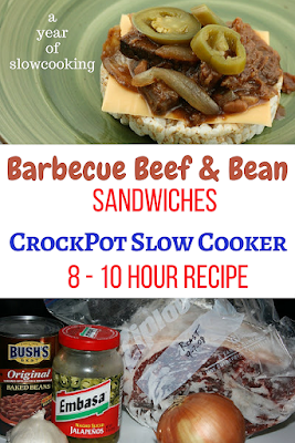 Sweet, tangy, with a touch of spice, these barbecue beef and bean sandwiches will make everyone in your family happy. I love my crockpot slow cooker!!! This is a great all day long recipe.