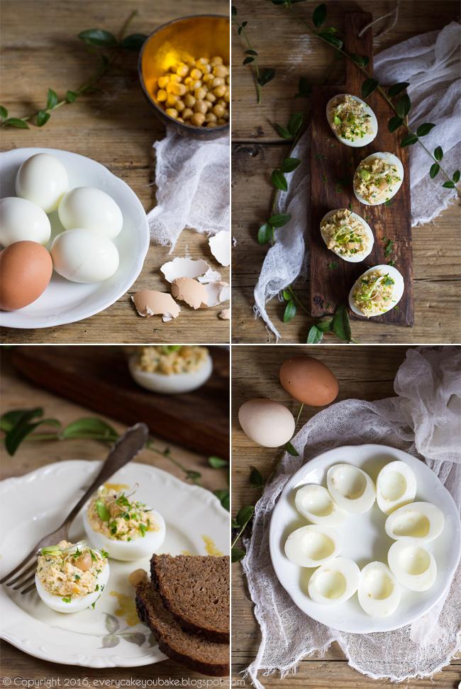 jajka faszerowane z ciecierzycą i musztardą