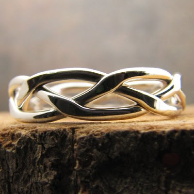 Argentium Braided Stacking Ring $19 + $5 shipping