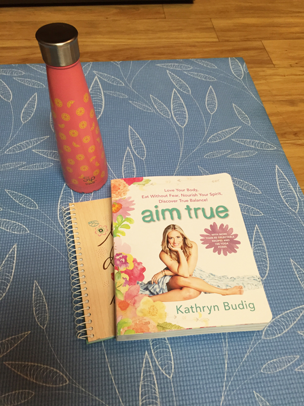 Kathryn Budig, Under Armour, Aim True, DC, Yoga, yogi, namaste, yoga diaries, S'ip by S'well bottle, water bottle, Aim True book, journal