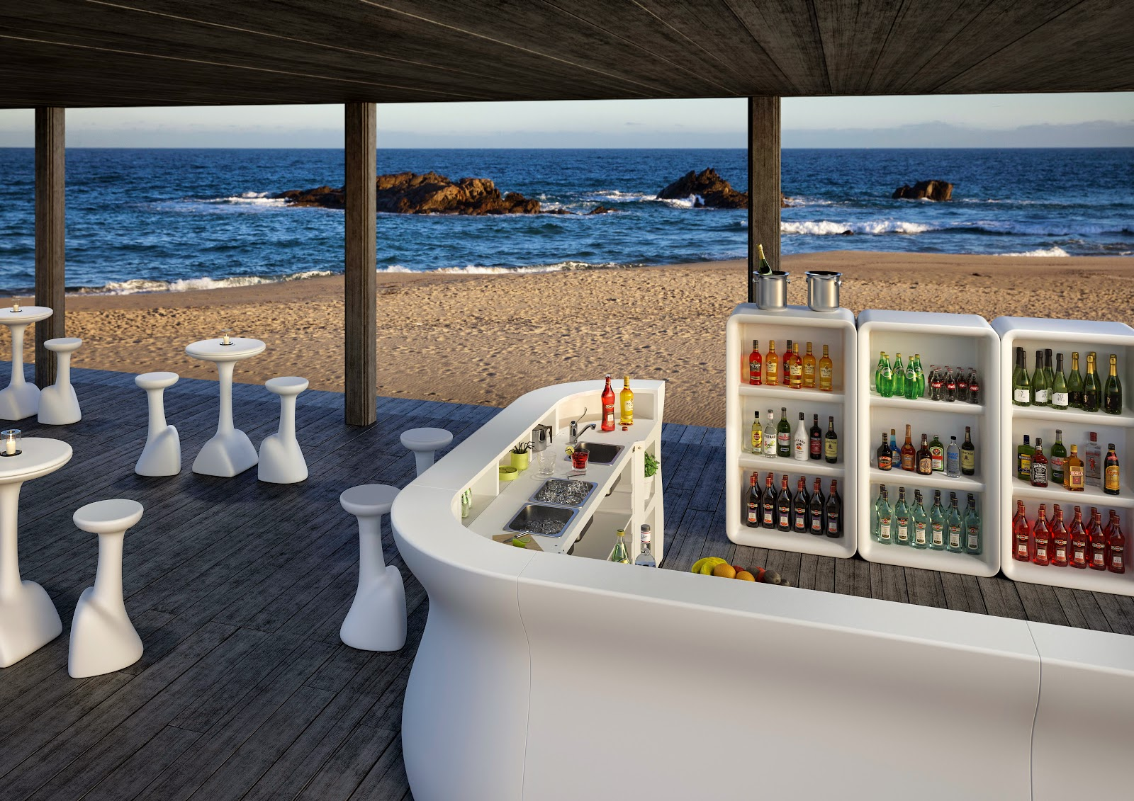 Banconi bar e arredo per spiagge e stabilimenti balneari for Arredare un bar