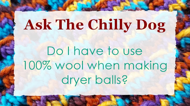 Do I have to use 100% wool to make dryer balls or can I crochet them with other fibers?