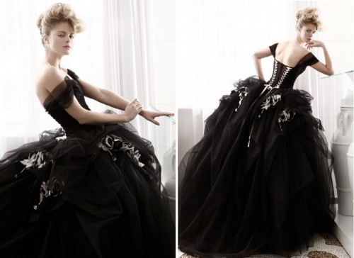 Black Wedding Gowns: Black Cocktail Wedding Dresses Designs