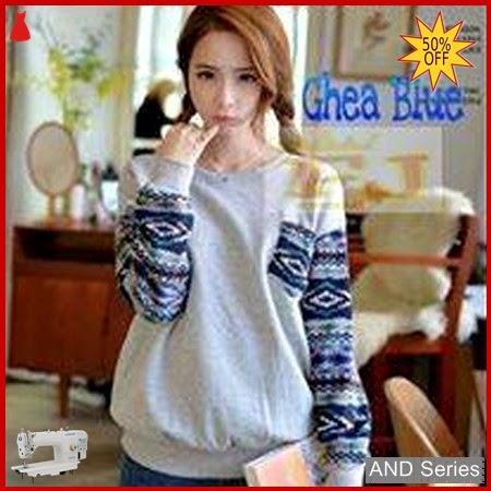 AND389 Sweater Wanita Ghea Biru Knite BMGShop