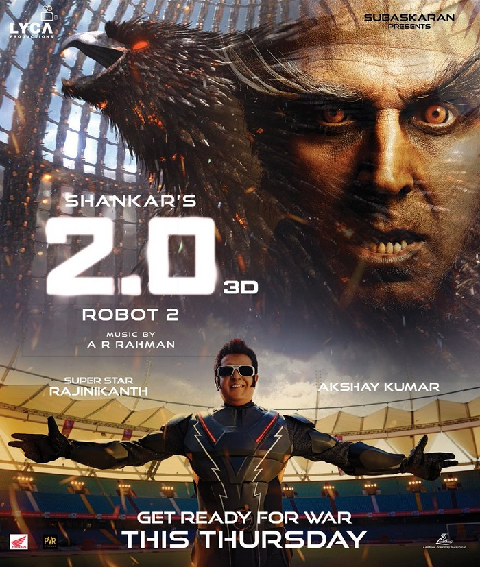 2 0 (Hindi) Movie Advance Booking Report