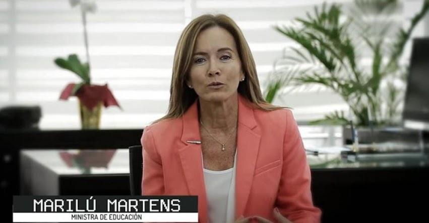 Ministra de Educación, Marilú Martens, envió mensaje que aclara los alcances del Currículo Nacional [VIDEO]