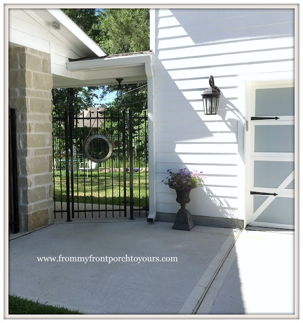 Garage Door Makeover-Detached Garage-Backyard Entrance-Farmhouse-From My Front Porch To Yours
