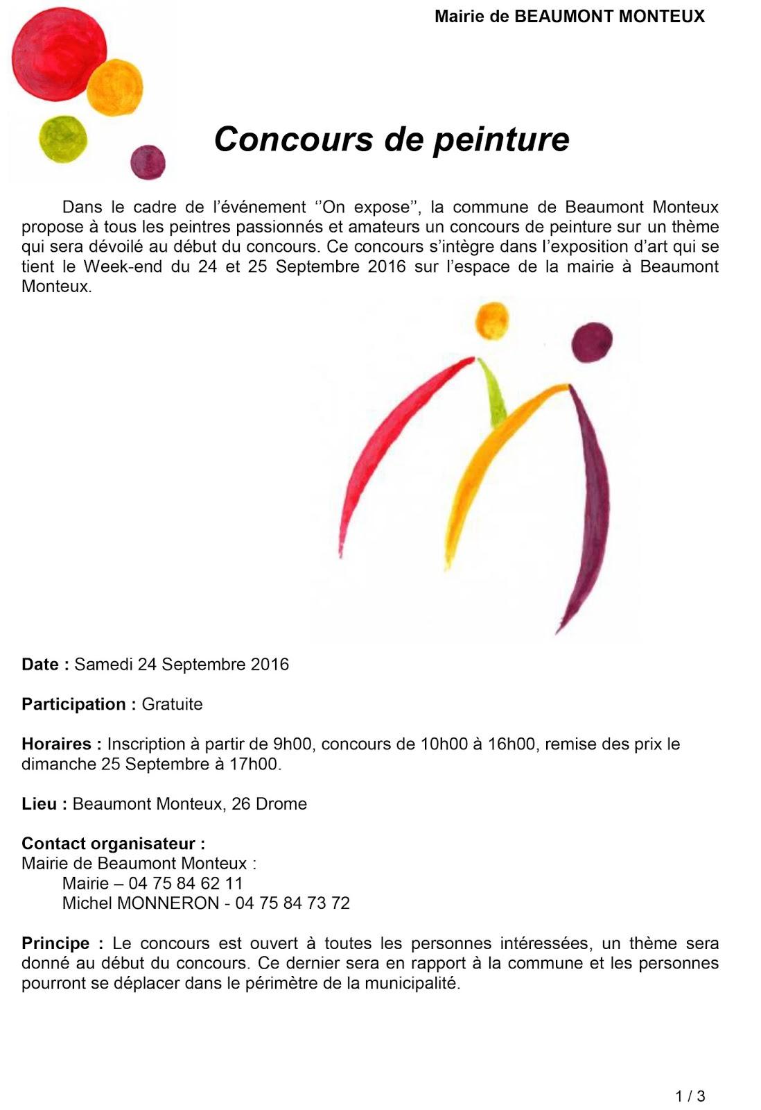 APITMA: Concours de peinture (Beaumont Monteux- 26)