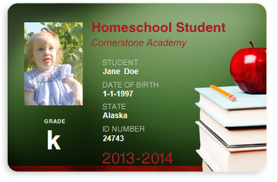 homeschool id template - there 39 s room for more free homeschool student id cards