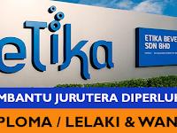 Jawatan Kosong Pembantu Jurutera di Etika Dairies Sdn Bhd