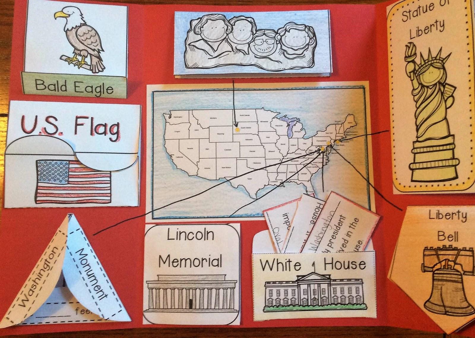 United States Symbols Lapbook