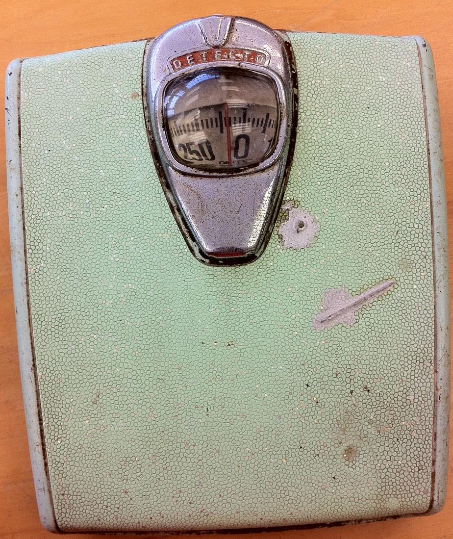 Vintage Detecto Aqua Bathroom Scale 18