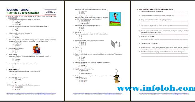Download Soal Ujian Tema 1 Subtema 4 Kelas 1 Semester 1 Tahun 2018 2019 Terbaru Infoloh Com
