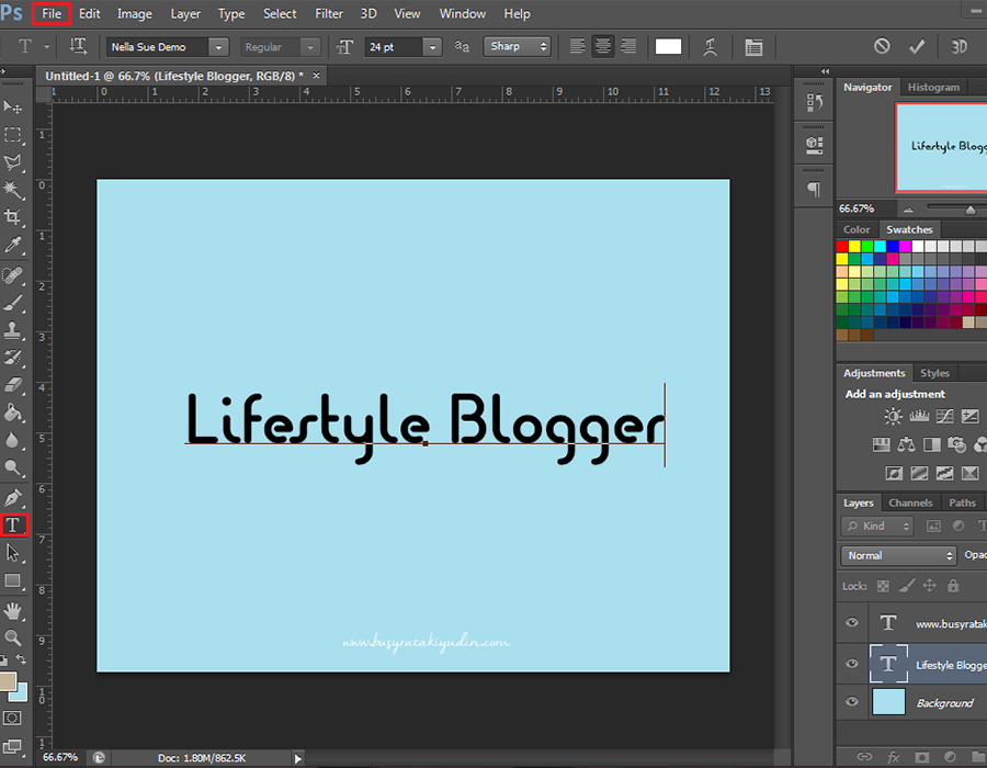 efek stroke, stroke tulisan, photoshop, photoshop cs6, tutorial, tutorial efek stroke pada tulisan,