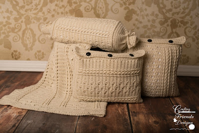 Braided Cable Block collection by Crafting Friends Designs