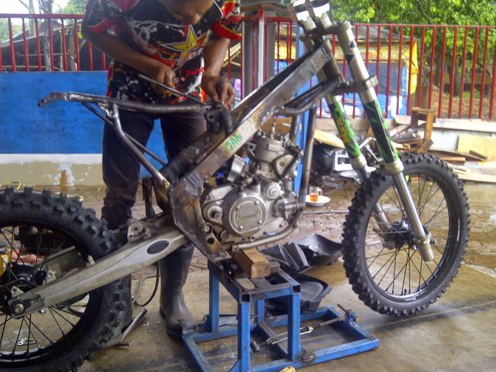 Modif Rangka Ninja Trail 150 R Grasstrack Modifikasi Motor Trabas