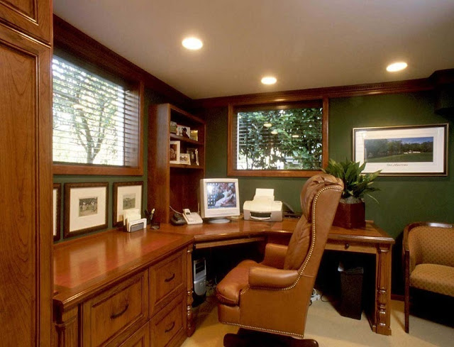 custom home office furniture design ideas pictures