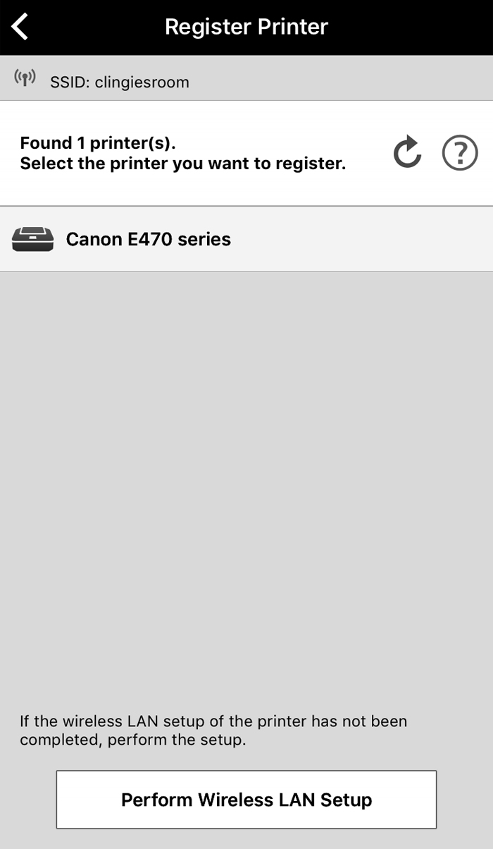 how to connect my canon wireless printer to my network