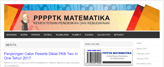 Diklat PKB Two In One P4TK Matematika 2017