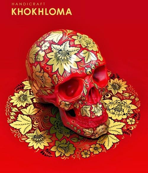 03-Khokhloma-Style-Sasha-Vinogradova-Russian-Folk-Panting-Skulls-www-designstack-co