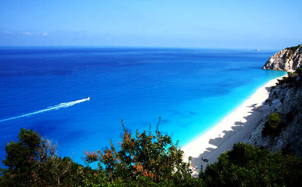 33 Amazing Beaches From Around The World - Egremni, Lefkada, Greece