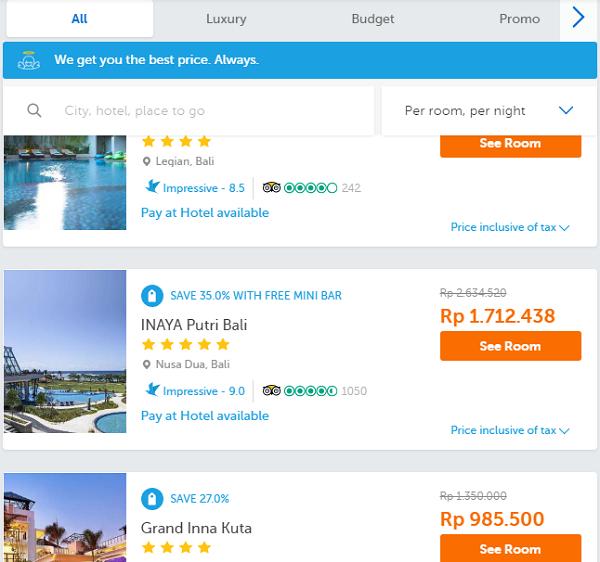 Proses Booking Hotel di traveloka yang Mudah