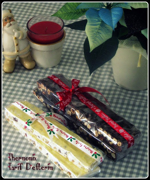 Chocolate Hazelnut Torrone with Thermomix