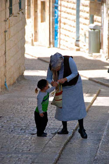 Woman Child Safed Israel