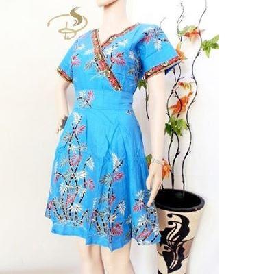 Dress-Batik-Kimono-Bambu-Biru