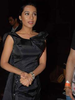 Amrita Rao in Black Dress at Maxim Magazine Launch