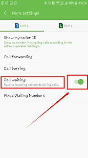 Jese hi click karoge ab aapke Samne 6 options dikhenge jisme ki aapko Show My Caller id Call forwarding Call Barring Call Waiting Fixed Dialling Number