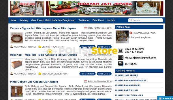 Hidayah Jati Jepara - Verifikasi Toko Online Aman dan Terpercaya - Polisi Store