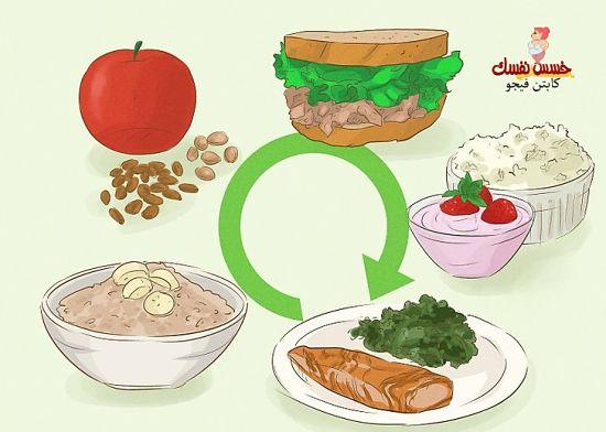 كيف تتناولين طعاما أكثر مع رجيم الأحجام