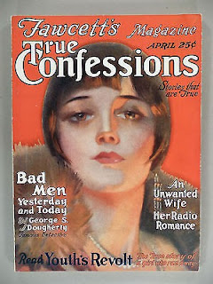 True Confessions, April 1926 - First issue after the change in title from Fawcett's Magazine