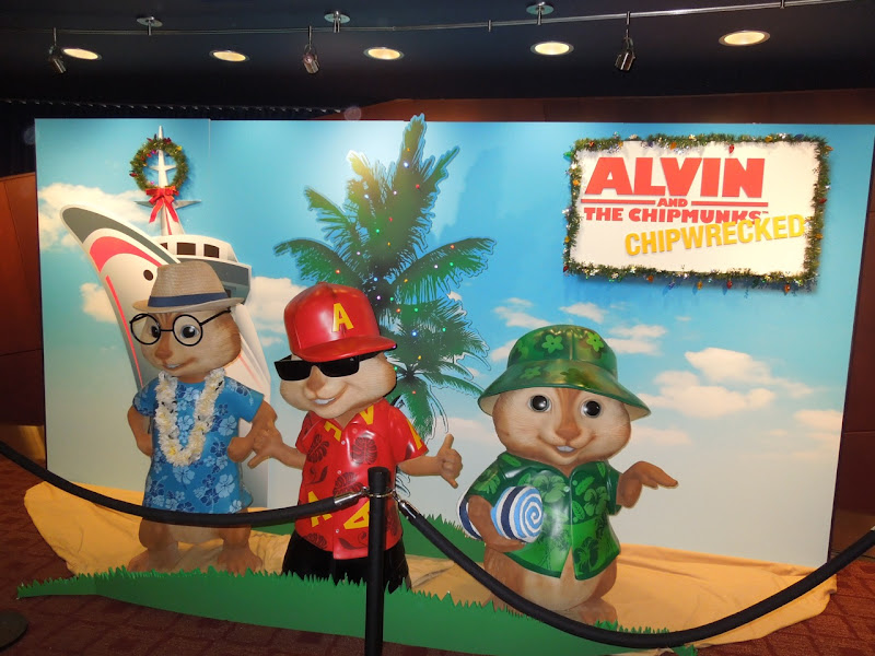 Alvin and the Chipmunks 3 movie display