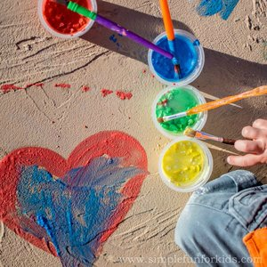 painting ideas for kids -chalk paint recipe
