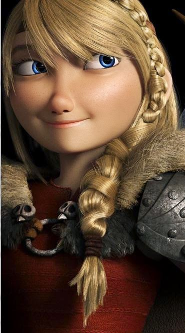 Picture of Astrid's new hairstyle from How to Train Your Dragon 2